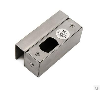 门禁不锈钢门夹/通用电插锁门夹/ 门禁上下无框电插锁玻璃门夹